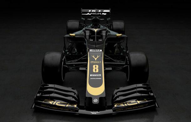 Haas, prima echipă care prezintă monopostul de Formula 1 pentru sezonul 2019: americanii vor concura în negru și auriu - Poza 2