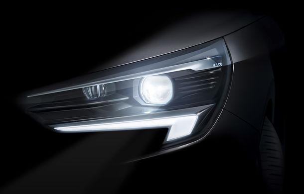 Prima imagine teaser cu viitoarea generație Opel Corsa: modelul de segment B va fi echipat cu faruri cu tehnologie LED Matrix - Poza 1