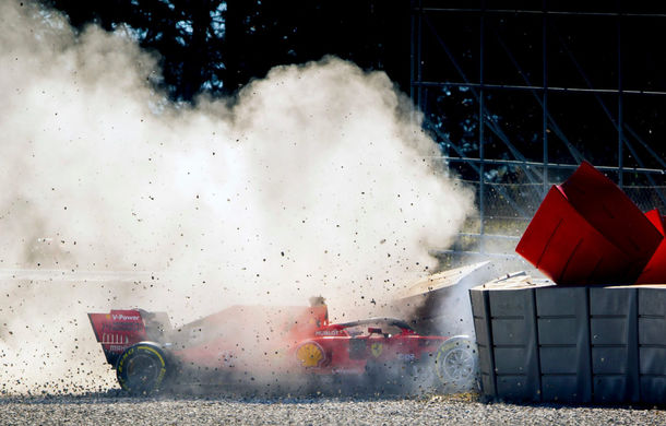 """Vettel, protagonistul unui accident în a doua zi de teste de la Barcelona: """"Cauza este o jantă deteriorată de un impact cu un obiect străin"""" - Poza 1"""