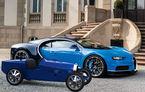 Bugatti lansează Baby II: vehiculul electric de mici dimensiuni are roți motrice spate, dezvoltă 13 CP și este inspirat de legendarul Type 35.