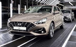 Hyundai pregătește startul producției lui i30 facelift: modelul de clasă compactă va fi asamblat în Cehia, începând cu 25 mai