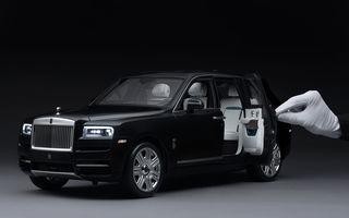 Rolls-Royce lansează macheta SUV-ului Cullinan la scara 1:8: producția unui exemplar are loc în 450 de ore
