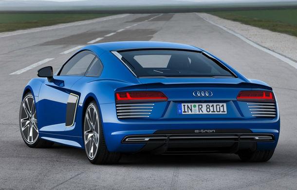 Audi R8 e-tron: 3.9 secunde pentru 0-100 km/h şi 450 de kilometri autonomie pentru sportiva electrică Audi - Poza 2