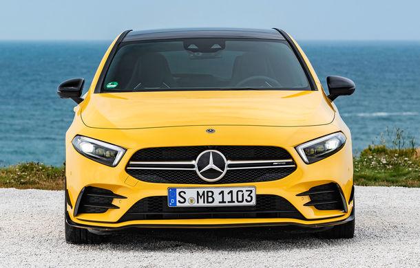Primele imagini cu interiorul noii generații Mercedes Clasa A: volan preluat de la Clasa S, două ecrane de 12 inch, spațiu mai mare pentru pasageri - Poza 2