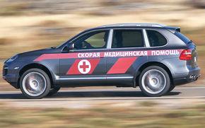 Bulgaria: 32 de Porsche ca ambulante!