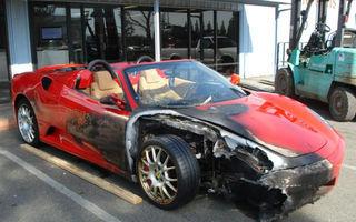 110.000 $ pentru un Ferrari incendiat