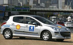 Peugeot 308 HDI, record mondial de consum