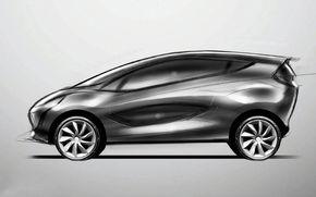 Oficial: Iata prima schita a conceptului Mazda1!