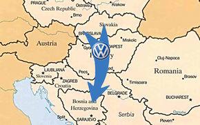 VW muta o linie de asamblare din Slovacia in Bosnia