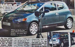 Mitsubishi Colt facelift, spionat in premiera