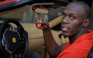 Usain Bolt a condus un Ferrari F430 Spider