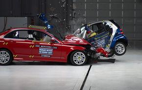 "CRASH TEST: Sedanurile medii fac ""praf"" masinile mici"