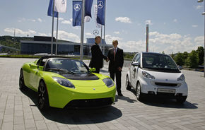 Daimler a cumparat 10% din Tesla
