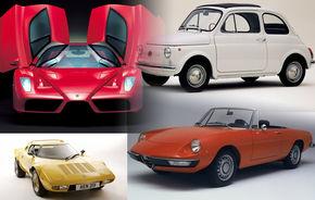 TOP 10 masini italiene din toate timpurile