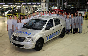 Gama Logan sarbatoreste 1.000.000 de masini produse in Romania