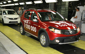 Dacia sarbatoreste 3.500.000 de masini in 41 de ani de productie