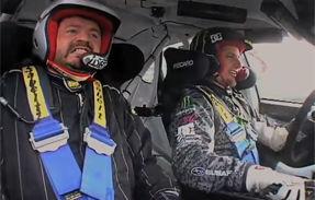 VIDEO: Ken Block sperie jucatorii de Dirt2 in masina sa de raliu