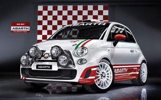 OFICIAL: Abarth a creat un Fiat 500 pentru raliuri