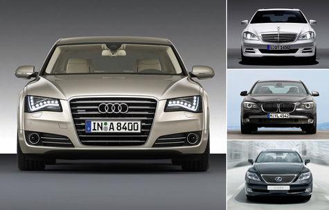 ANALIZA: Noul Audi A8 versus S-Klasse, Seria 7 si Lexus LS