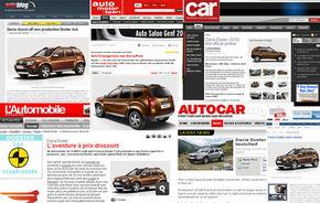 ANALIZA: Cum a fost primit Dacia Duster in presa internationala