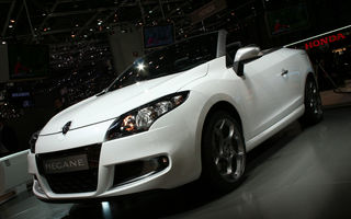 GENEVA LIVE: Renault a prezentat noile Megane CC, Wind si RS Gordini