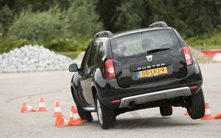 """Duster 4x2, pus în dificultate la testele de stabilitate. Dacia: """"Duster nu are probleme!"""""""