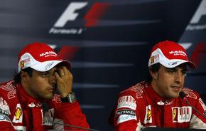 """Ferrari: """"Massa s-a lăsat depăşit de Alonso pentru că era supărat"""""""