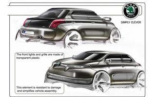 Un designer italian a realizat primele schiţe ale viitorului Skoda Felicia