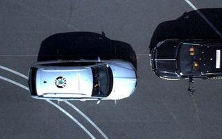 Impact frontal defazat la 90 km/h între Skoda Yeti şi Superb Combi