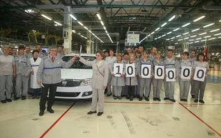 Automobilul Dacia Logan cu numărul 1.000.000 a părăsit astăzi fabrica