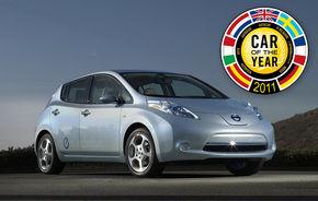 Nissan Leaf este Maşina Anului 2011 în Europa! Duster, pe 7