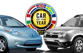 ANALIZĂ: Cum s-a votat la Car of the Year - între Nissan Leaf şi Dacia Duster