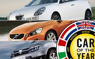 """Utilizatorii Automarket din """"juriul"""" Car of the Year au preferat Giulietta, S60 şi Duster"""