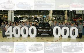 VIDEO: Dacia a produs la Mioveni maşina cu numărul 4.000.000