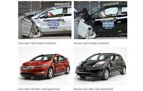 Succese la crash-testele americane pentru Nissan Leaf şi Chevrolet Volt