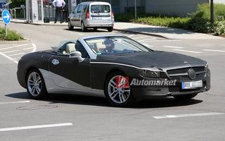 FOTO EXCLUSIV* : Primele imagini cu viitorul Mercedes SL decapotat