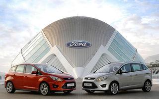Ford măreşte producţia de C-Max din Europa pentru a răspunde cererii