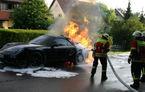 Un prototip Porsche 911 Cabrio a luat foc în timpul testelor