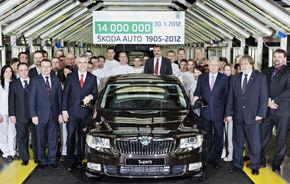 Skoda a produs 14 milioane de automobile