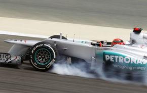 """Schumacher critică dur pneurile Pirelli: """"Nu putem pilota la maxim"""""""