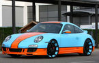 Porsche 911 modificat de Oxigin în stil Gulf Racing