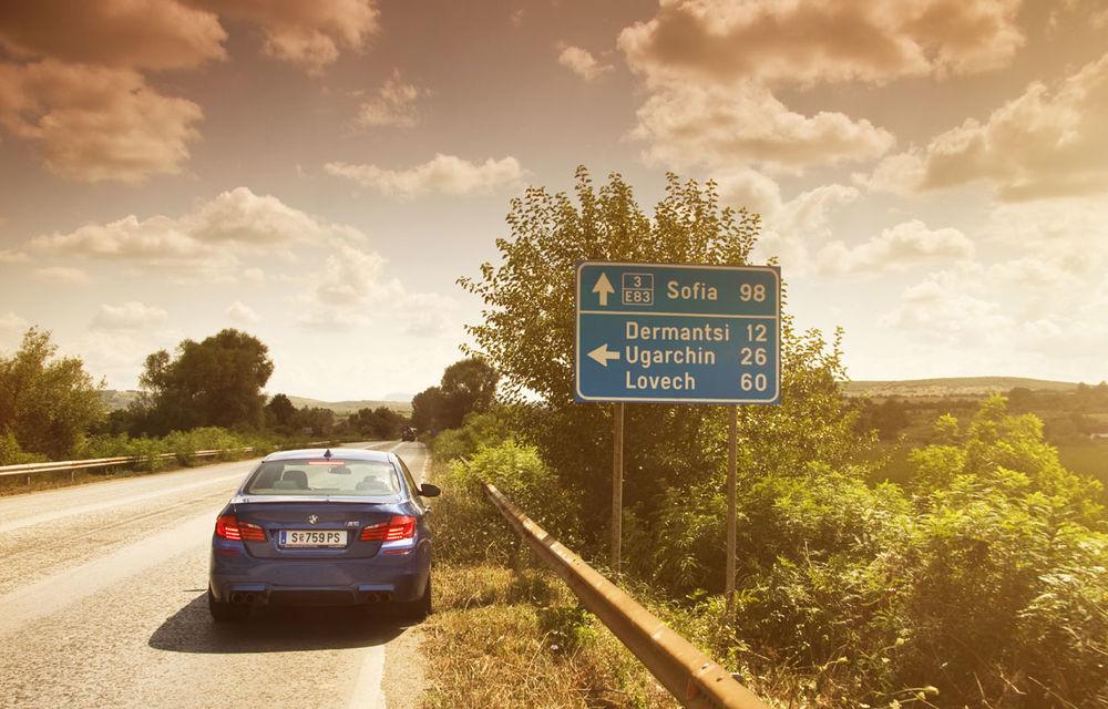 FOTOREPORTAJ: Călătorie Bucureşti-Sofia cu noul BMW M5 - Poza 21