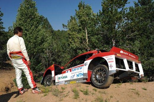 Mitsubishi i-MiEV Evolution, accident în antrenamentele pentru Pikes Peak - Poza 4
