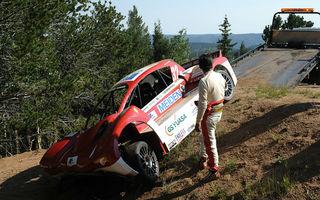 Mitsubishi i-MiEV Evolution, accident în antrenamentele pentru Pikes Peak