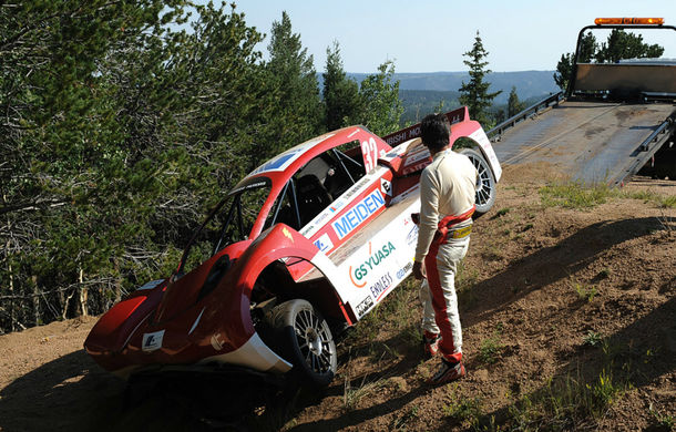 Mitsubishi i-MiEV Evolution, accident în antrenamentele pentru Pikes Peak - Poza 1