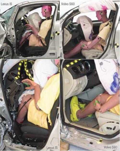 Mercedes, Lexus şi Audi au obţinut rezultate slabe la noul test de siguranţă al institutului american IIHS - Poza 2