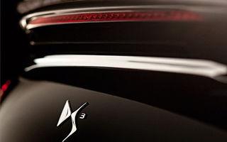 Citroen DS3 Cabrio, primul teaser oficial