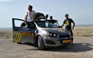 Chevrolet Aveo a terminat Mongol Rally, o cursă de 14.500 kilometri