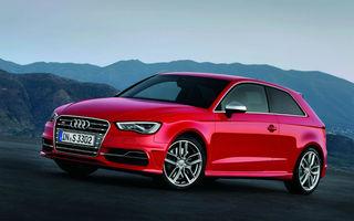 Audi S3 debutează la Paris cu 300 CP şi 380 Nm