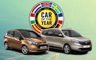 Dacia Lodgy şi Ford B-Max, nominalizate pentru Car of the Year 2013